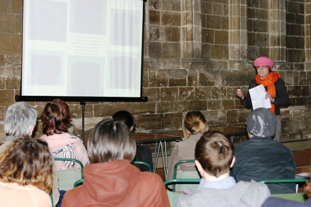 Artist presentations at The Open West, Gloucester Cathedral, 2011